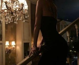 black dress, elegance, and charm image