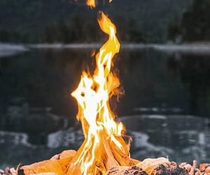 bonfire, flame, and fire image