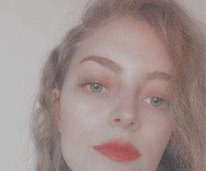 hair, make-up, and long hair image