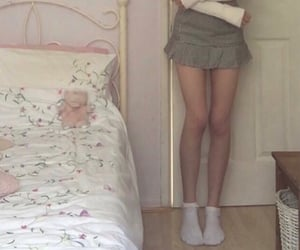 aesthetic, girl, and lace socks image