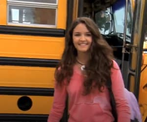 actress, girl, and school bus image