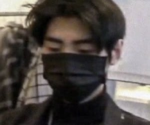 black, blurry, and kpop image