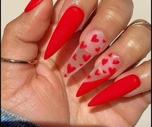 corazones, nails, and febrero image