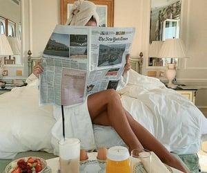 breakfast, girl, and food image