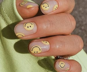 nails, manicure, and yellow image