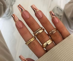 nails, rings, and nail design image