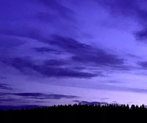 black, blue, and clouds image