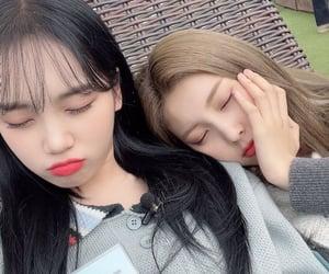 hyewon, izone, and kim chaewon image