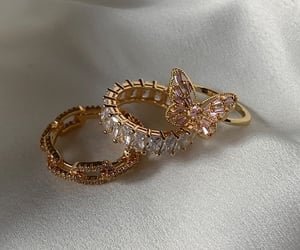 gold, rings, and accessories image