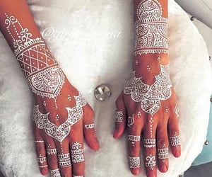 henna, woman, and tatto image