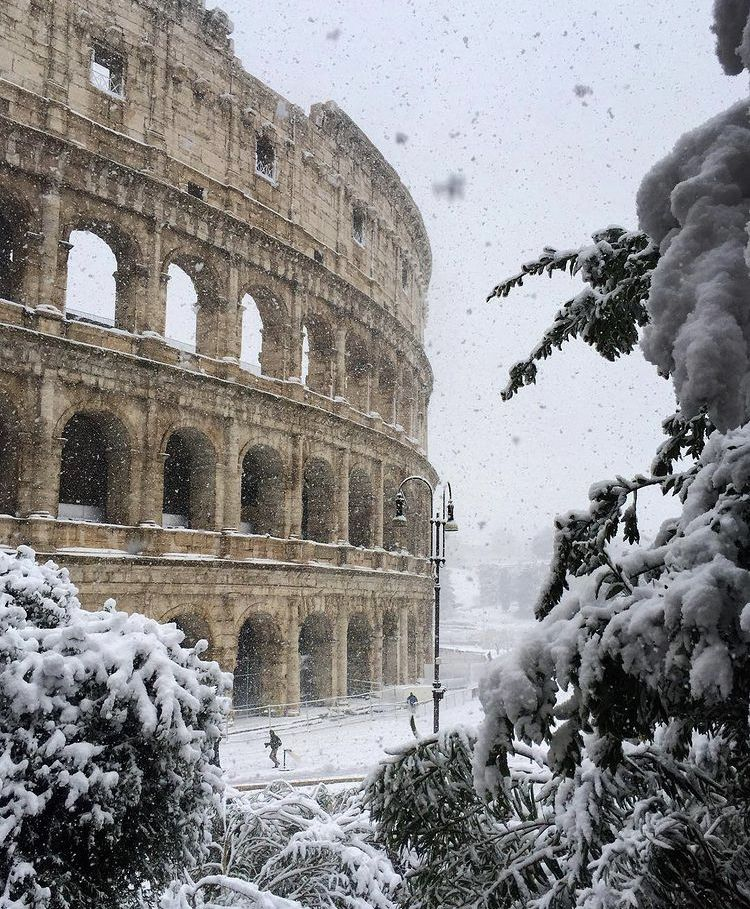 rome, winter, and italy image