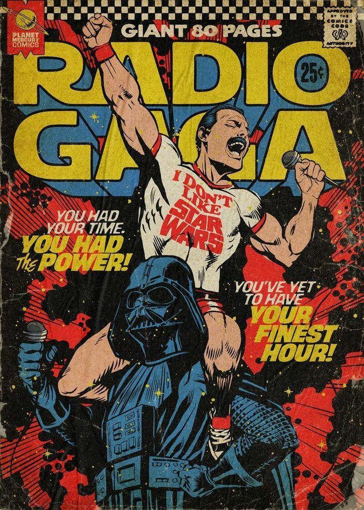 star wars, darth vader, and Freddie Mercury image