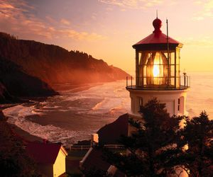 beautiful, pretty, and lighthouse image