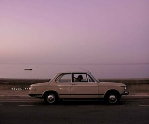 car, sky, and vintage image