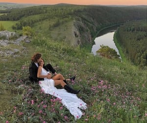 couple, lovers, and nature image