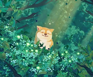 aesthetic, green, and inu image