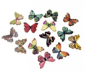 butterflies, buttons, and butterfly buttons image
