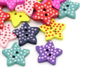 buttons, etsy, and stars image