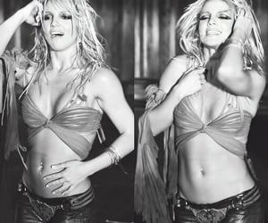black and white and britney spears image