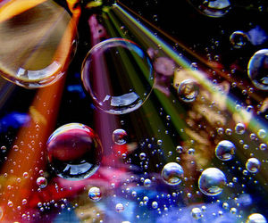 bubbles, light, and rainbow image