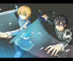 anime, anime boys, and kirito image