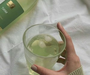green, aesthetic, and drink image