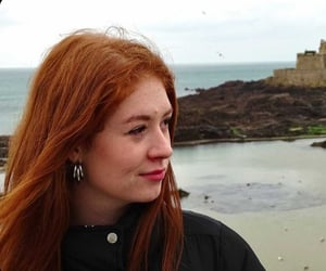 beauty, plage, and redhair image