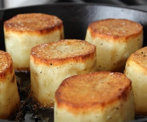 Fondant Potatoes - Crusty Potatoes Roasted with Butter and Stock - YouTube