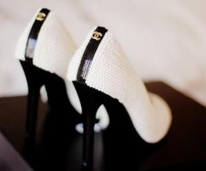 chanel, ladies, and shoes image