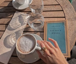 coffee, book, and cafe image