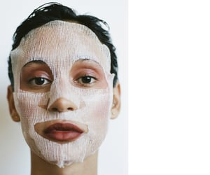 beauty, mask, and skin image