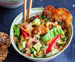 Vietnamese chicken, avocado, & lemon grass spring roll salad