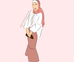 illustration, modest fashion, and inspirama image