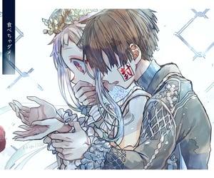 anime, anime couple, and anime illustration image