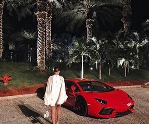 car, lux, and vermelho image