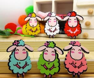 buttons, etsy, and sheep image
