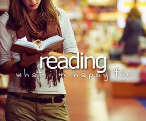 book, reading, and happy image