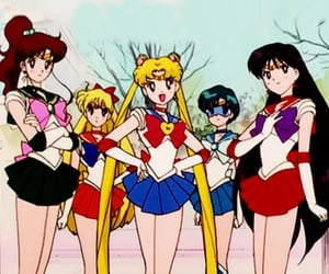 anime, sailor mars, and sailor venus image