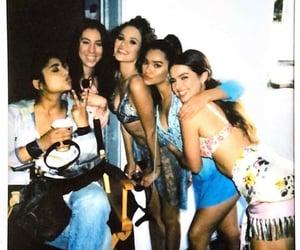 girls, tik tok, and friends image