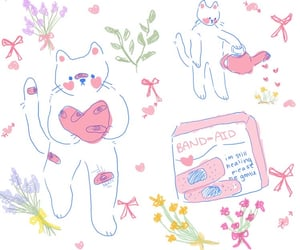 doodle, message, and cute image