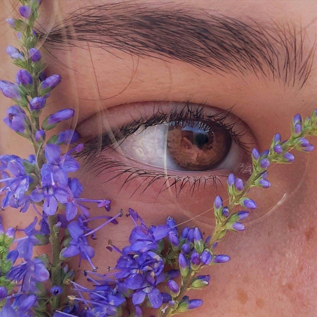 aesthetic, eye, and flowers image