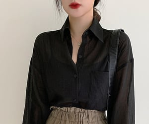 asian fashion, korean fashion, and shirt image