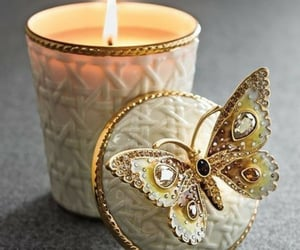 beautiful, butterfly, and candle image