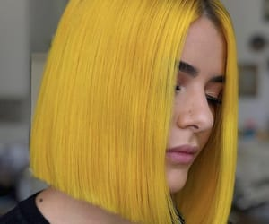 dyed hair, yellow hair, and colorful hair image