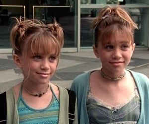 hairstyle, olsen twins, and 90s image