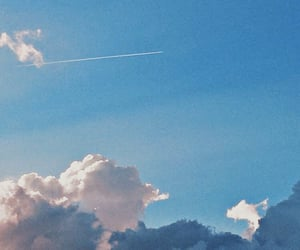 aesthetic, blue, and clouds image