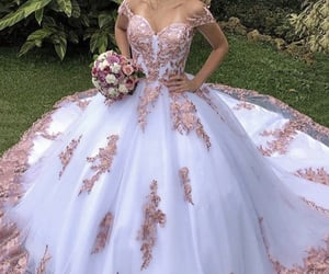 dresses, prom dress, and ball gown image