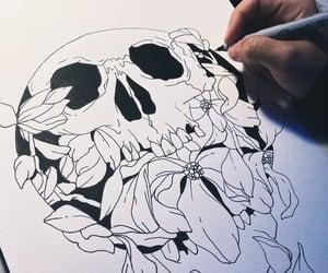 art, blackandwhite, and arte image