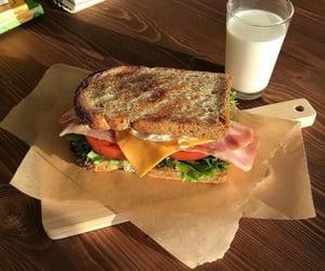 food, breakfast, and sandwich image