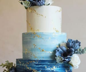 reception and blue cake image